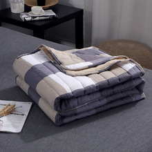 Plaid Air Conditioning Throw Blanket Summer Cotton Thin Blankets for Beds Office Sofa Towel Quilt Good Quality Tv