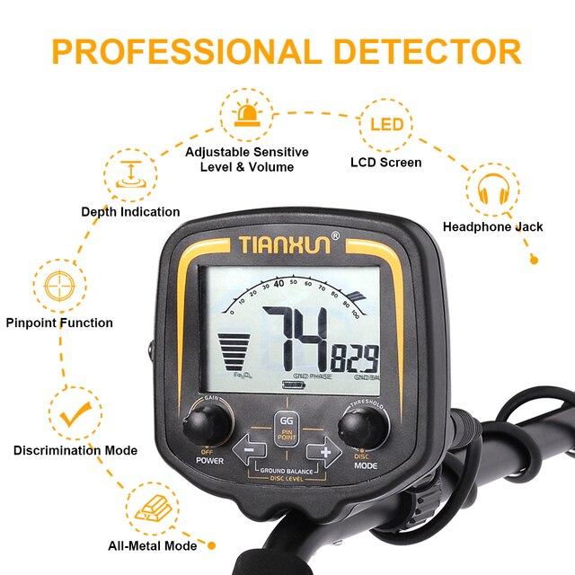 TIANXUN TX-850 Professional Metal Detector Underground Depth 2.5m Scanner Search Finder Gold Detector Treasure Hunter Pinpointer 3