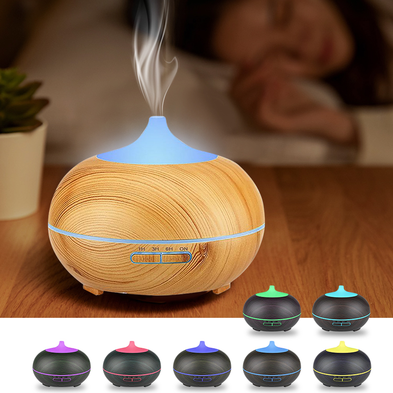 USB Aroma Essential Oil Diffuser Ultrasonic Air Humidifier Aromatherapy Diffuser 7 Colors LED Light Cool Mist Maker Air Purifier
