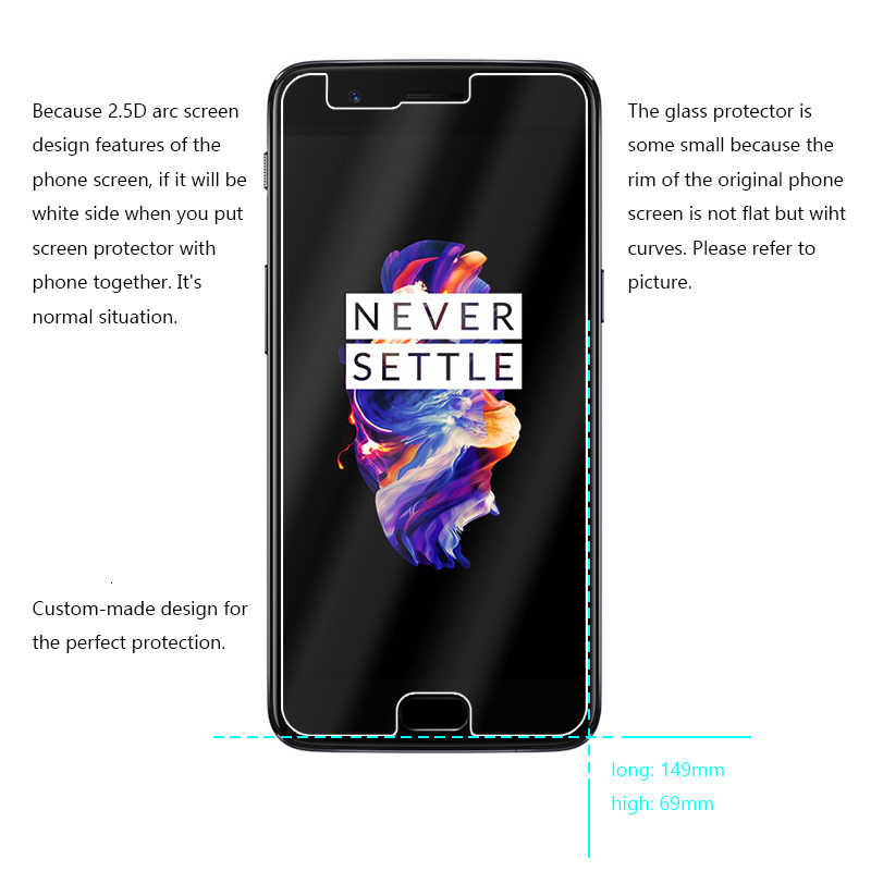 2.5D 0.26mm 9H Premium Tempered Glass For Oneplus 5 one plus 5 1+5 Screen Protector Toughened protective film For oneplus5