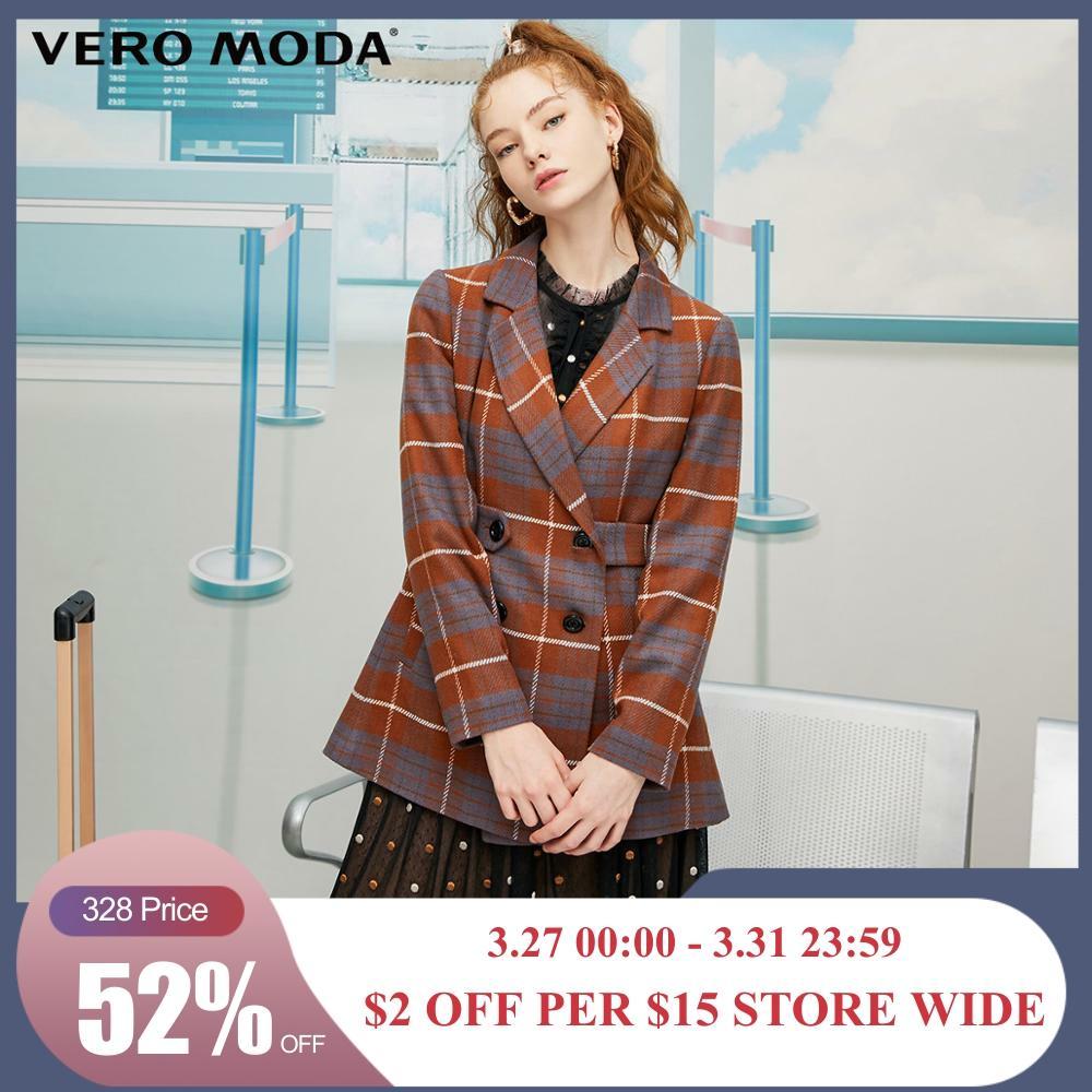 Vero Moda Women's Vintage Plaid Blazer   319308587