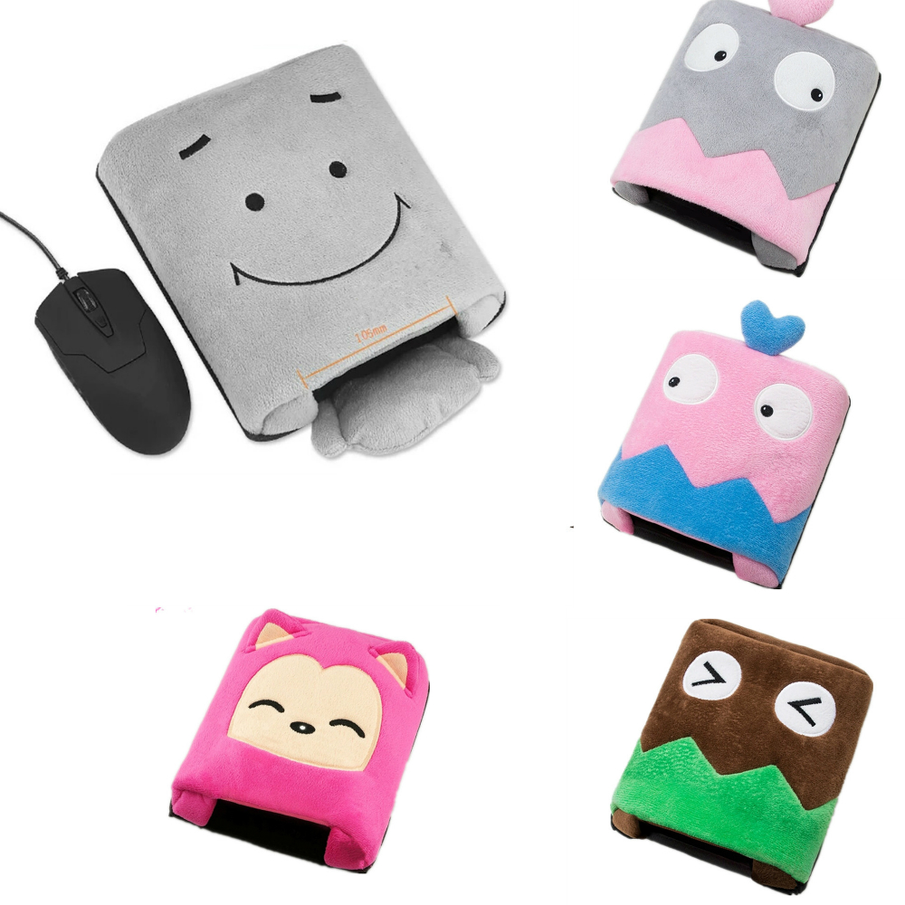 USB Warmer Mouse Pad Mousepad Mat Heated Hand With Wristguard Winter Mouse Mat USB Port Computer Desk Office Supply & Play Games