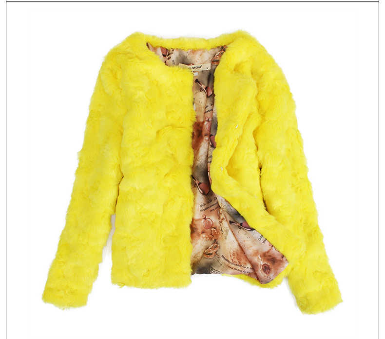 Rex Faux Kaninchen Fell Mantel Weibliche Jacke Winter frauen Jacken Rosa Pelz Mäntel Oberbekleidung Frauen Jaqueta Feminina KJ305 s s