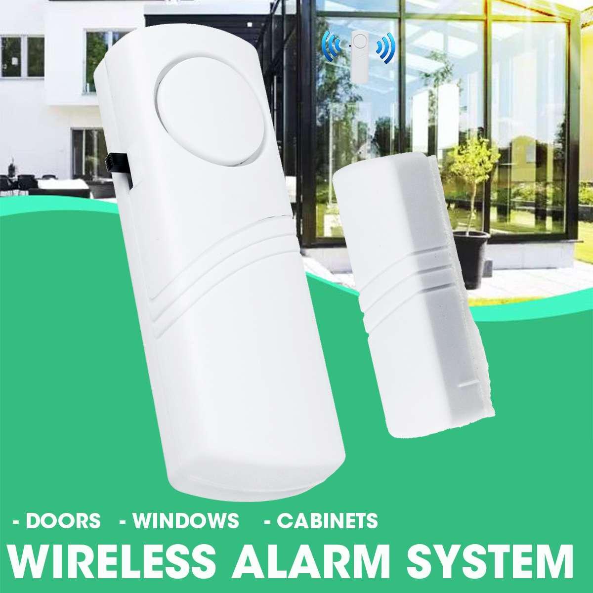 Wireless Burglar Alert With Magnetic Sensor Window Door Entry Anti Thief Home Alarm System Security Device 90DB
