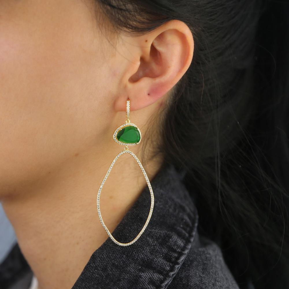 BRASS drop earring Y (5)