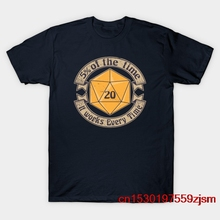 5 процентщик d20 v2 золото футболка для мужчин и женщин, футболка