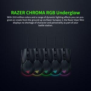 Image 4 - Original Razer Viper Mini 61g Leichte Verdrahtete Maus 8500DPI PAW3359 Optische Sensor RGB Gaming Maus Mäuse SPEEDFLEX Kabel