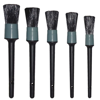 Auto Care Natural Boar Hair Detail Brush(Set Of 5),Premium Detail Brushes For Cleaning Wheels/Engine/Interior/Emblems/Interior/E фото