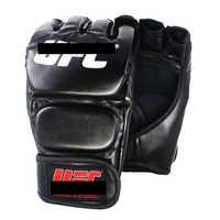 SUOTF negro mma lucha boxeo deportes guantes de cuero Tigre Muay Thai caja de lucha mma guantes de boxeo sanda guante de boxeo almohadillas para mma