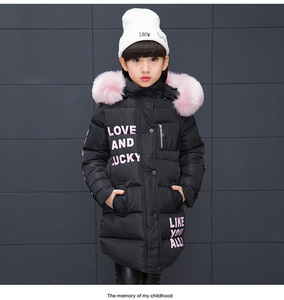 Image 5 - Ragazze Caldo Cappotto di inverno Artificiale moda capelli Lunghi Bambini Giacca Con Cappuccio del cappotto per la ragazza della tuta sportiva delle ragazze Vestiti 4 12 anni di età