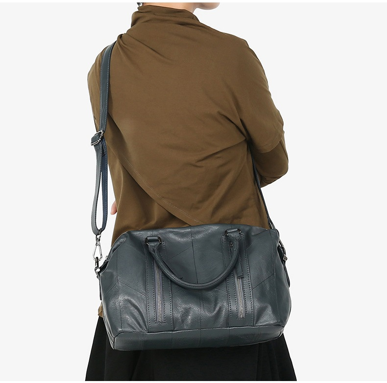 MJ Women Tote Handbag Genuine Leather Female Soft Real Cow Leather Shoulder Bags Solid Large Capacity Ladies Crossbody Bag (6)
