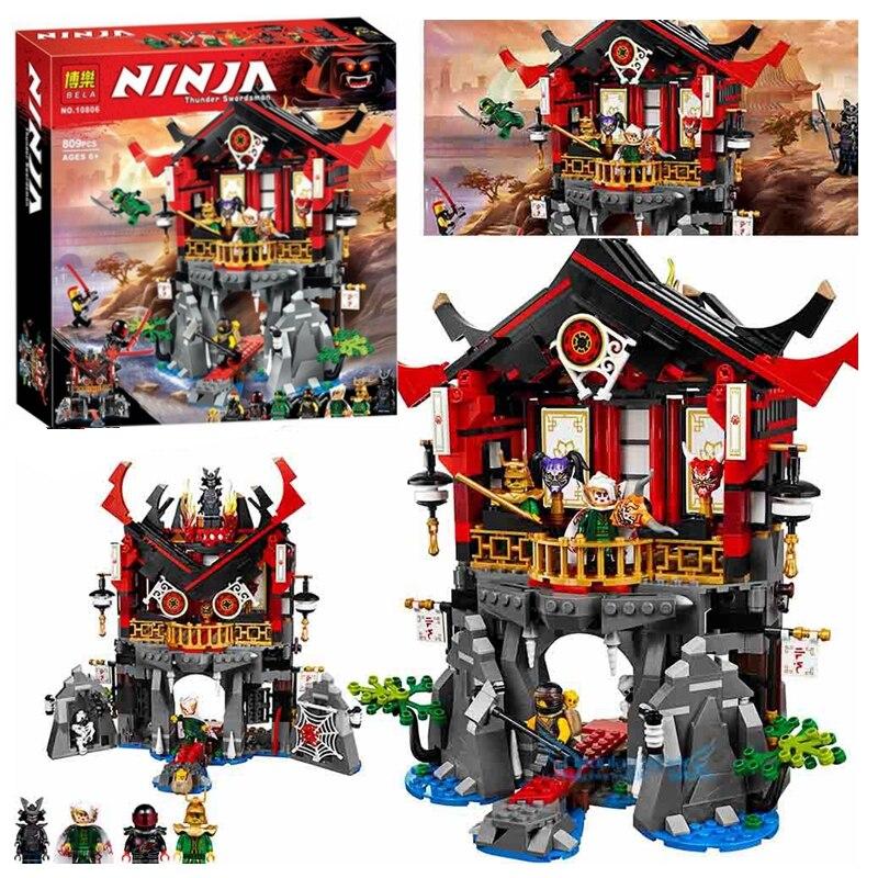 809Pcs Ninja Temple Of Resurrection Blocks Set Compatible Ninjagoes 70643 Building Bricks Toys For Children