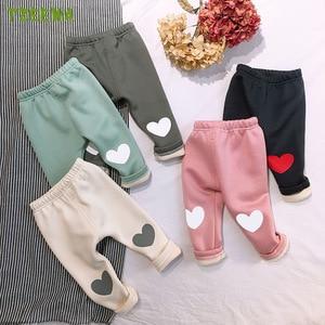 2020 Winter Baby Pants Warm Fleece Newborn baby Clothes Toddler Pantalones Infant Trousers Velvet Baby Leggings Baby Girl Pants