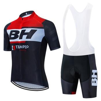 2020 equipo BH manga corta ciclismo jersey 20D Pad pantalones traje de...