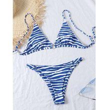 Bañador Bandage acolchado con Push-Up, conjunto de Bikini con estampado Floral aleatorio, ropa de playa, ropa de baño acolchada 2021