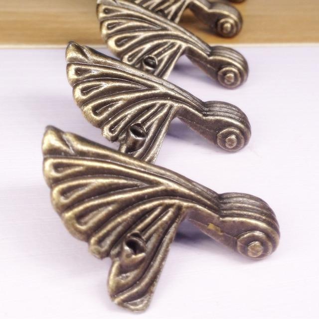 4 adet/grup 32*44mm kutu bacak koruma köşe parantez dekoratif kutu bacak bakımı Vintage ayaklar mücevher kutusu