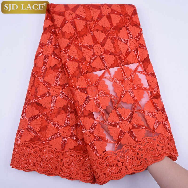 Leite vermelho de seda rendas nigeriano africano tecido renda líquida com lantejoulas alta qualidade malha francesa tecido do laço para o casamento costura a1733