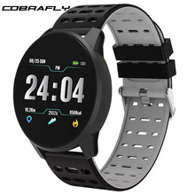 Cobrafly Smart Watch for men with pressure measurement Fitness Bracelet Alarm clock Reminder Smartwatch band PK band 3 4 b57(China)