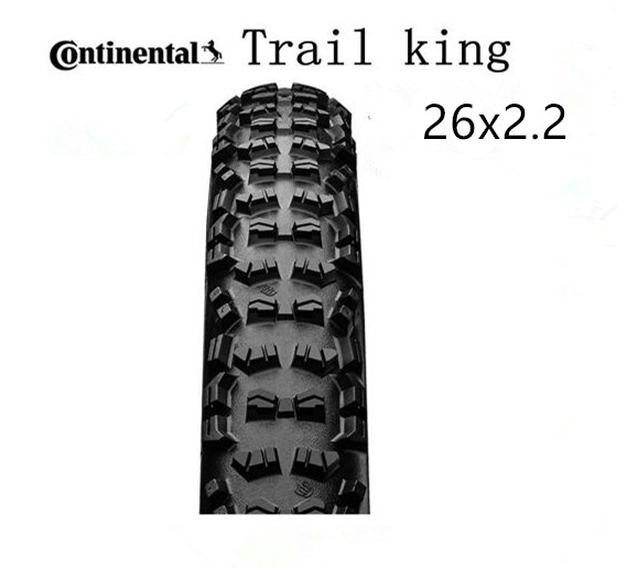 Continental Unfoldable tyreTrail king Tire MTB bicycle <font><b>26x2.2</b></font> in Tubular Tire Mountain bike Rigid Black image