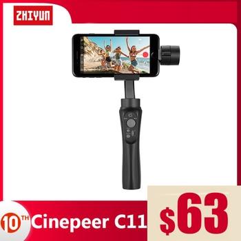 ZHIYUN CINEPEER C11 Official 3-Axis Handheld Gimbal Vlog Smartphone Stabilizer for iPhone 11 XS Huawei Xiaomi Samsung  VS DJI