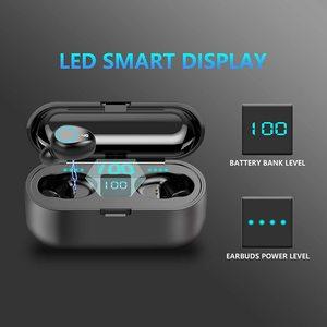 Image 5 - Bluetooth наушники TWS, беспроводные наушники 5,0, водонепроницаемые наушники вкладыши, спортивные наушники 2000 мАч, зарядное устройство, гарнитура, микрофон