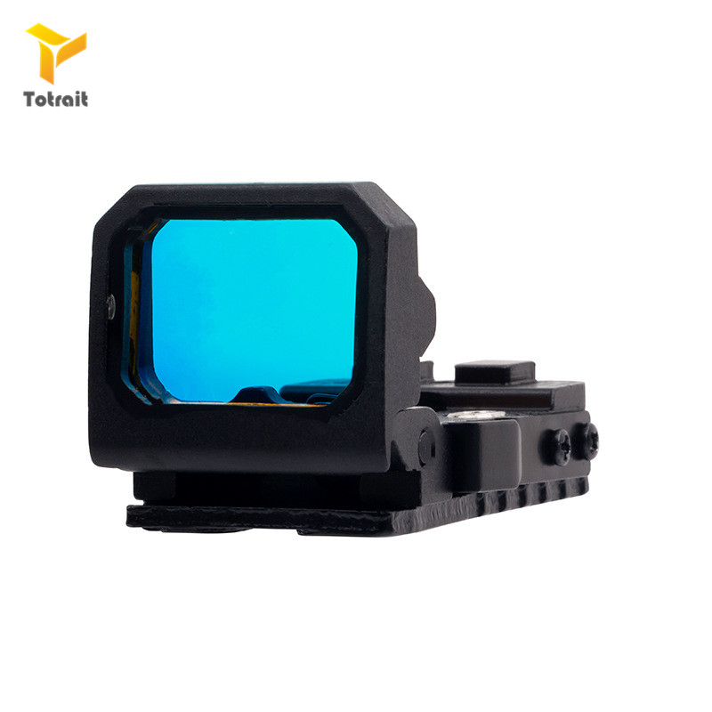 Totrait Folding Flip Red Dot Pistol Sight Holographic Reflex Sight For Airsoft With RMR Mount Fit For 20mm Rail