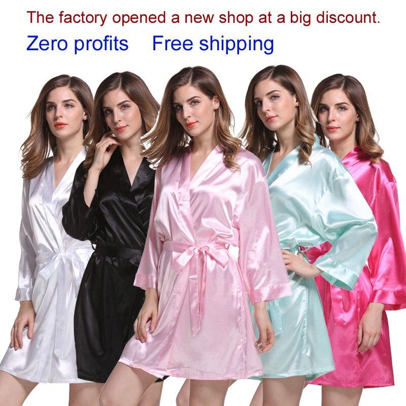 Silk Robes Bridal Party Robes  Wedding Robe Bride Robes  Long Sleeves Bridesmaid Robes Soft Pajamas  WQ35
