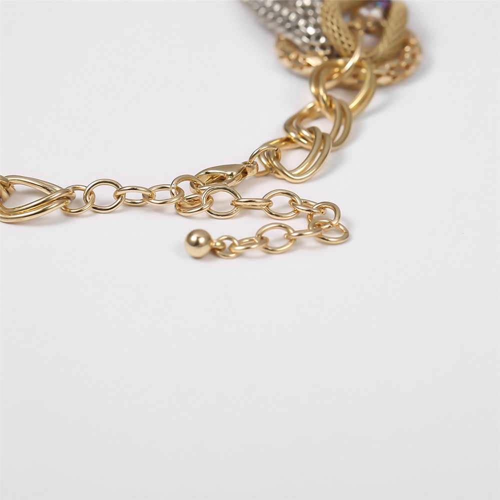Hyperbole gitane grande chaîne épaisse collier ras du cou pour les femmes 2020 à la mode Hip hop grosse chaîne cubaine collier fête bijoux de charme
