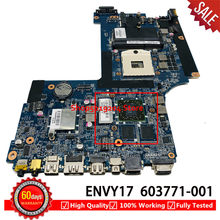 603771-001 carte mère pour HP pour Envy 17-1000 envy17 envy 17 carte mère d'ordinateur portable DA0SP8MB6E0 100% TESED OK(China)