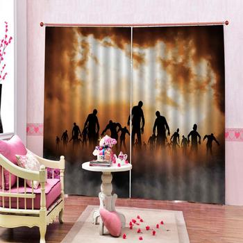 Customized size Luxury Blackout 3D Window Curtains For Living Room Home dance curtains for club Polyester decor