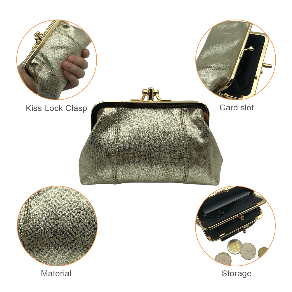BELLO TUTTI Original New Women Genuine Leather Coin Purse Metal Hasp Sheepskin Wallet Mini Change Money Bag Card Holder For Girl