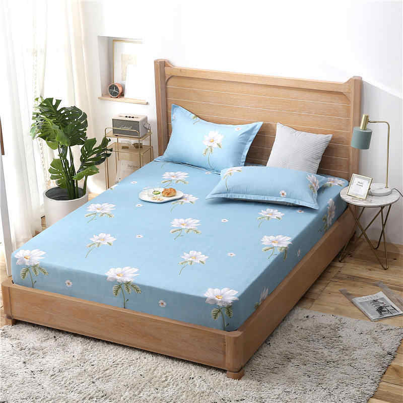 Чехол для девочки с цветочным рисунком, матрас для мальчика, дышащий чехол для кровати для взрослых, детский матрас, протектор, летний коврик для сна, 2CDT-63002