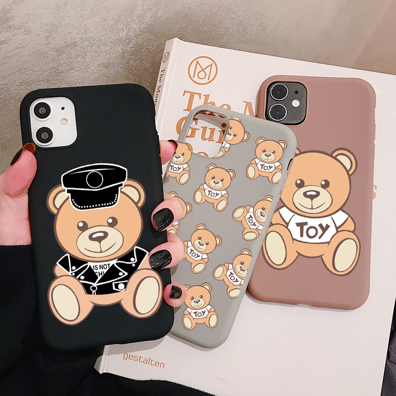 Popular Italy Bear Phone Case for iPhone 11 Pro XR X Xs Max 8 7 6 Plus 6S 5S SE Frosted Silicone Cases Soft Back Cover on AliExpress