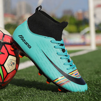 Men Soccer Shoes Football Boots High Ankle Long Spikes Boys Cleats Training Sport Sneakers Men Soccer Shoes Zapatos De Futbol|Soccer Shoes| |  -