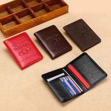 RFID Blocking Genuine Leather Travel Passport ID Card Cover Holder Case Protector Organizer F42A