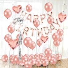 16 pulgadas Feliz cumpleaños globos Banner dulce 16 decoraciones de fiesta bebé niños adultos niño niña mi primer uno año suministros