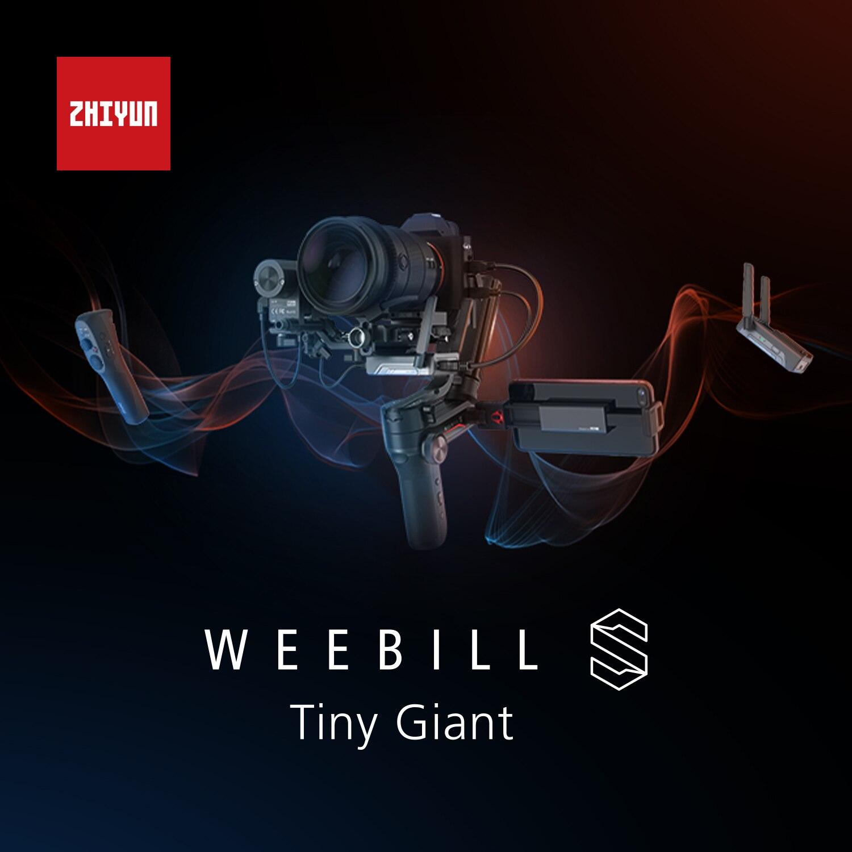 Zhiyun weebill s 3 eixos de transmissão de imagem estabilizador cardan para câmera sem espelho canon nikon sony dslr