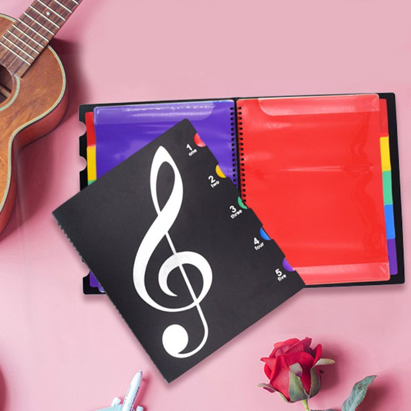 Creative A4 Music Book Folders Piano Multi Function Score Practical File Holder