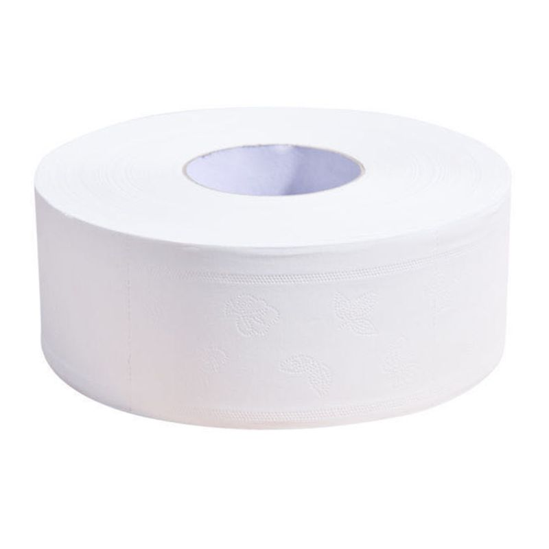 Jumbo Toilet Rolls Paper 4 Ply Bath Tissues Embossed Thickened Large Hand Towel