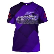 купить LBG summer fashion 3D printing Toyota sports car sports T-shirt men and women fashion T-shirt men's Harajuku T-shirt brandcasual по цене 405.77 рублей