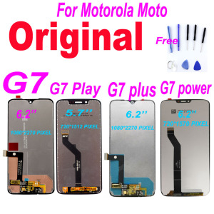 Original For Motorola Moto G7 Power Display XT1955 LCD G7 Plus Touch Screen Digitizer G7 Play LCD Replacement XT1952 LCD For G7