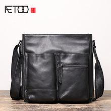 Мужская модная кожаная сумка aetoo на одно плечо тонкой шпильке