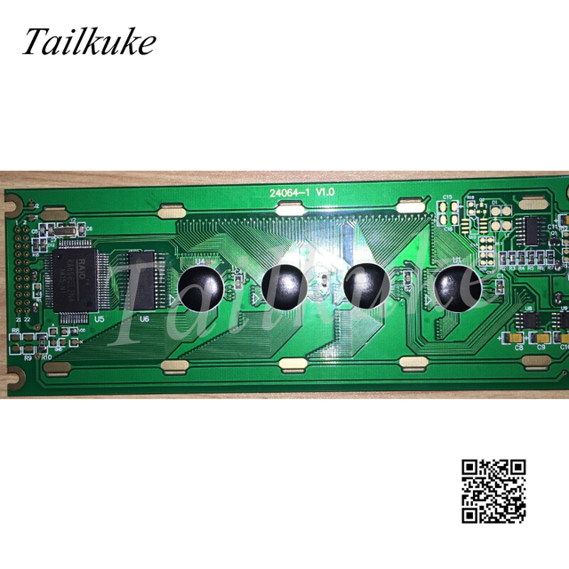 DMF5005Nหน้าจอHG245011 B 240X64 กราฟิกDot Matrix 24064 LCD Lหน้าจอสีฟ้าสีเหลืองหน้าจอ