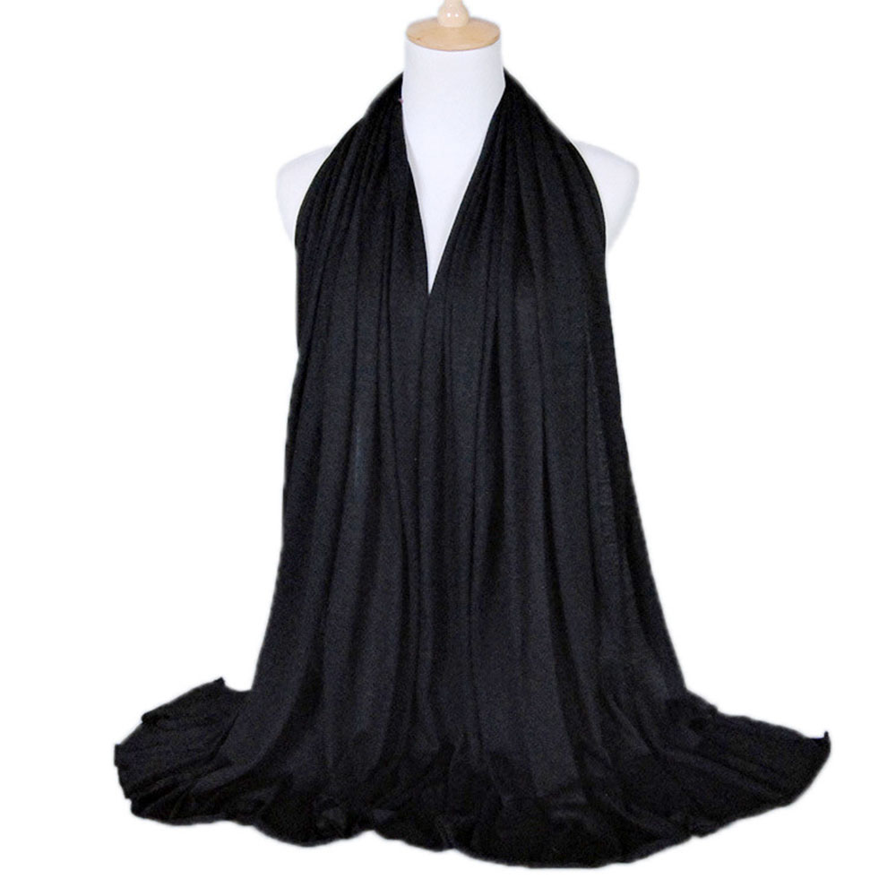 Single Jersey New National Women Headband Multicolor Arab Plain Muslim Head Scarves Hijab Autumn Winter Lady Shawl Wrap