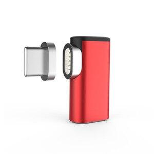 Image 3 - 87W 4,3 EINE Magnetische USB C Adapter für MacBook Pro 90 Ellenbogen USB Typ C Lade Connector für Samsung USB Adapter USB C Ladegerät