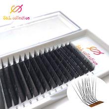 L/lc/ld/m onda cílios maquiagem extensão dos cílios bloom auto fãs cílios fácil fanning cílios ventilador automático magnético camélia beleza