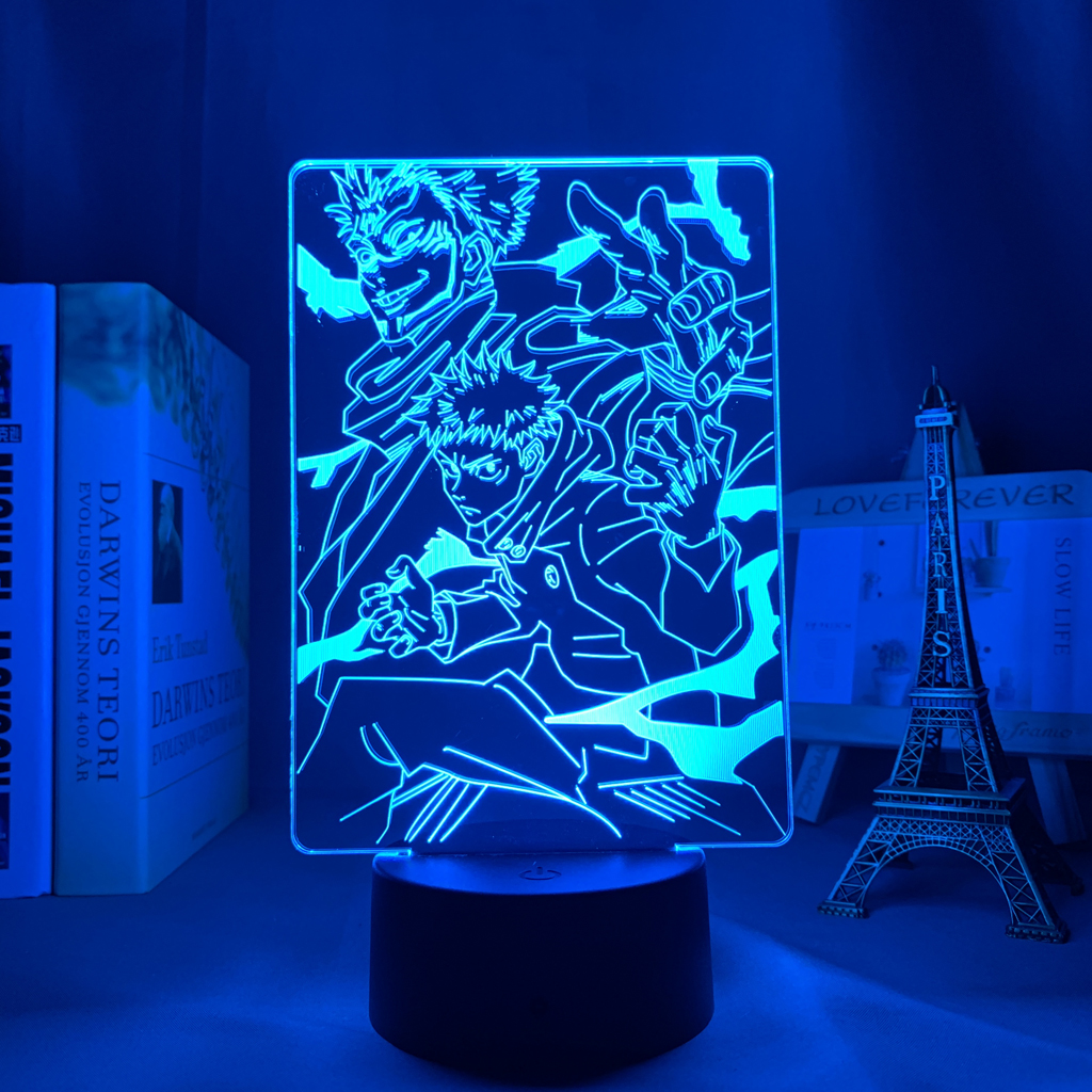 Hf58cdff0c6334cb6aa5896630148cf34J Luminária Anime jujutsu kaisen ryomen sukuna led night light lâmpada para decoração do quarto presente de aniversário yuji itadori luz jujutsu kaisen gadget