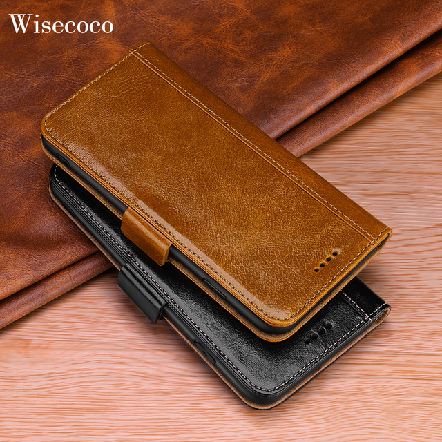 Lujosa funda tipo billetera con tapa para Samsung Galaxy Note 10, 9, 8, s10, S9, S8 Plus, Note 9, Note 8 y S9 Plus, funda magnética de cuero genuino para libro 360