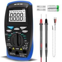 Holdpeak 41b 6000 contagens voltímetro amperímetro para ac dc volt & corrente, capacitância, temp e testador de diodo elétrico com ncv