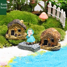 Home Decorations Chimney Farm House Small Resin Geometry Only Rustic Decor Miniature Figurines